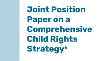 Documento de posición conjunta en la próxima estrategia de derechos del niño