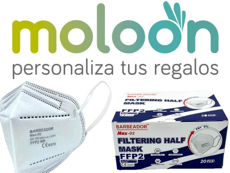 Recibimos una donación de 500 mascarillas FFP2 por parte de la empresa Moloon