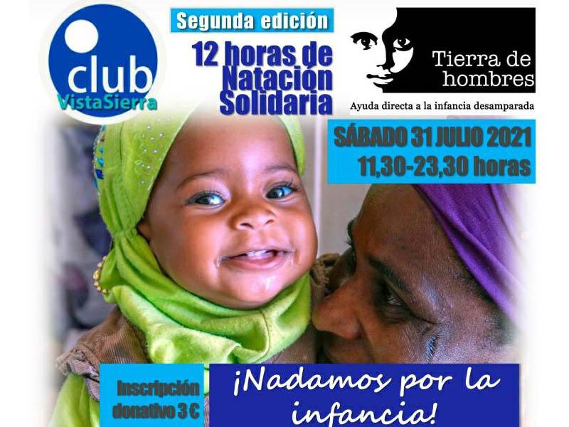 2ª edición «12 horas Natación Solidaria» en el Club Vistasierra